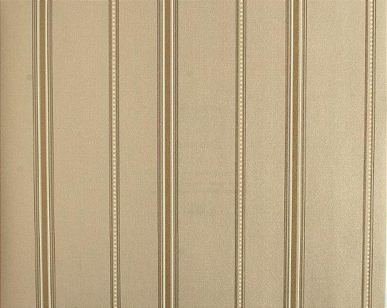 Papel de parede Space III Listrado com Bolinhas Branco e Cappuccino SP-138004