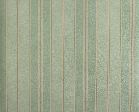 Papel de parede Space III Linhas Azul Claro, Rosa Antigo e Creme SP-138901