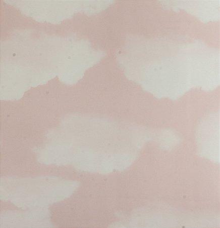 Papel de parede Ola Baby Rosa Claro com Nuvens Brancas FA-39202