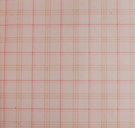 Papel de parede Ola Baby Rosa e Bege Quadriculado FA-39302