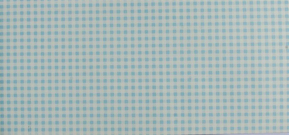 Papel de parede Ola Baby Quadriculado Azul Bebê e Branco FA-39403