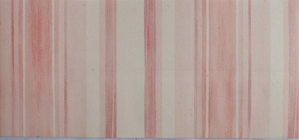 Papel de parede Ola Baby Listrado Rosa com Branco FA-38601