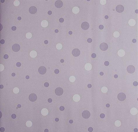 Papel de parede Ola Baby Lilás com Bolinhas FA-38702