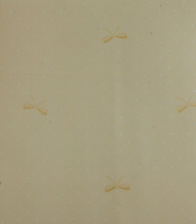 Papel de parede Ola Baby Amarelo Claro, Branco com Laços FA-39502