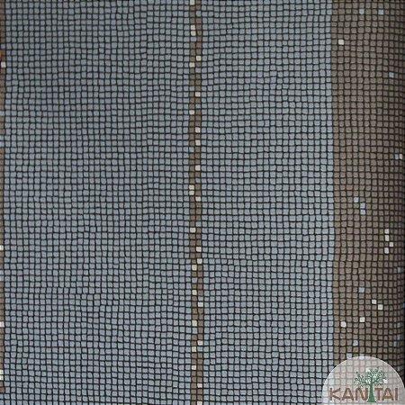 Papel de parede Barcelona Listras Quadriculadas Azul Indico e Grafite BC-382204
