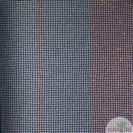 Papel de parede Barcelona Listras Quadriculadas Azul Indico e Lilás BC-382203