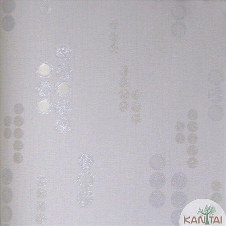 Papel de parede Barcelona Marfim com Círculos Cinza BC-382304