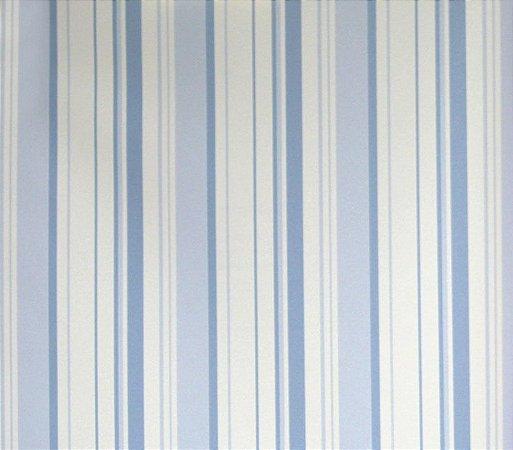 Papel de parede Barcelona Listras Azul e Branco BC-380602