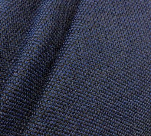Tecido JSerrano para Cadeiras e divisórias Tilbury Azul Marinho e Preto