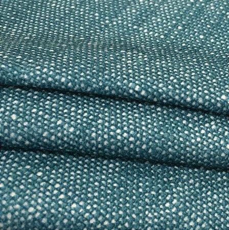 Tecido Veludo Naturalle Tipo linho Azul Turquesa
