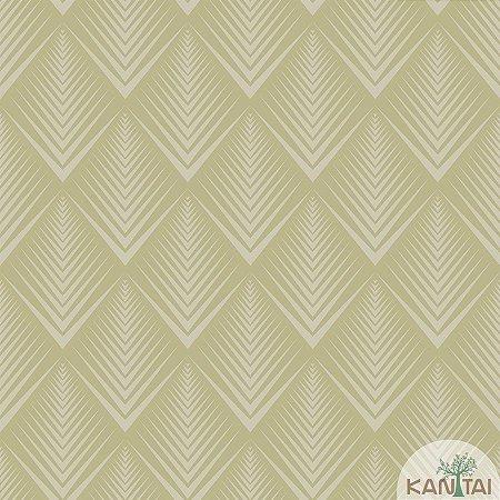 Papel de parede New Form Estilo Geométrico Verde Fendi - NF-630405