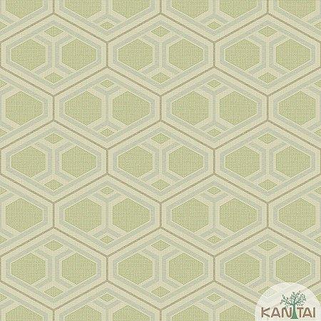 Papel de parede New Form Formas Geométricas Verde Fendi - NF-630306