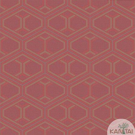 Papel de parede New Form Formas Geométricas Vinho - NF-630307
