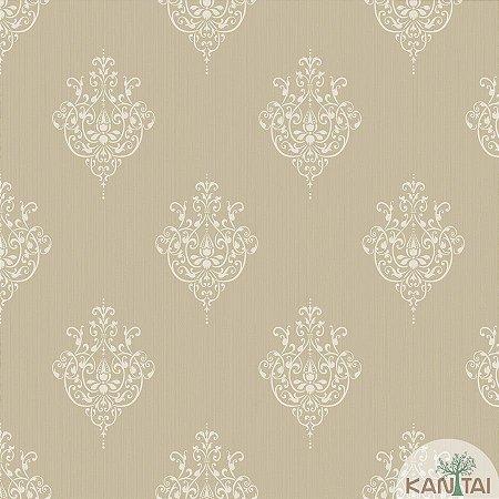 Papel de parede New Form Brasões Dourado e Marfim - NF-630507