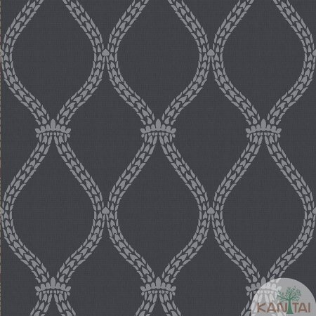 Papel de parede New Form Estilo Cordas Prata e Chumbo - NF-630608