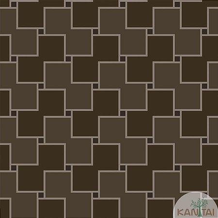 Papel de parede New Form Quadrados Marrom - NF-630207
