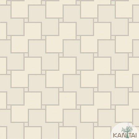 Papel de parede New Form Quadrados Areia e Creme - NF-630201