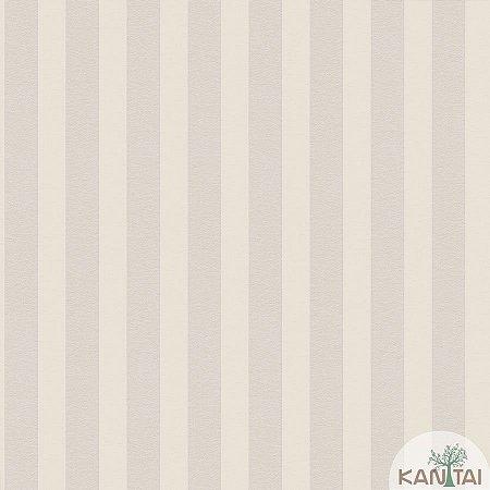 Papel de parede New Form Listrado Off White e Prata - NF-631003