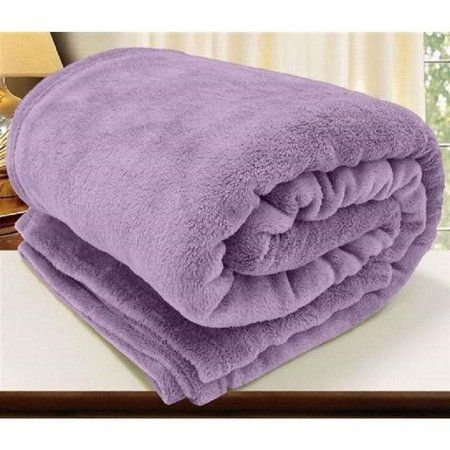 Manta King Violeta  Flannel  Corttex Home Design 2,40 x 2,20 mts
