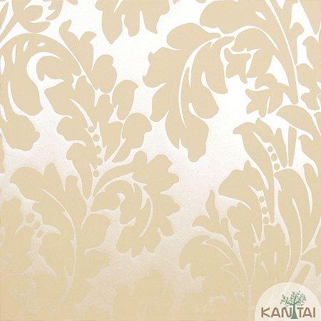 Papel de Parede Nickal Estilo Brasoes Dourado - NK53103