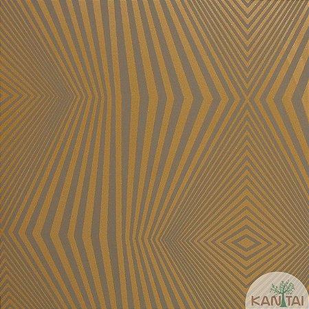 Papel de Parede Nickal Forma Geometrica Dourado e Cinza - NK53306