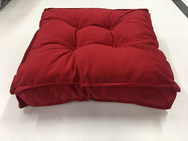 Futton almofada turco Macio 40x40cm Vermelha