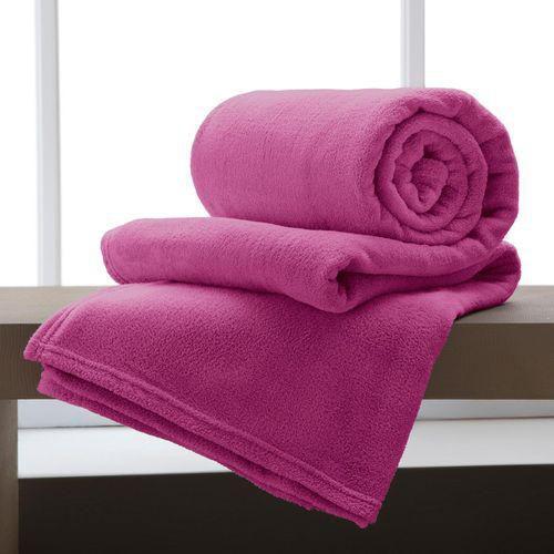 Manta Solteiro Pink Microfibra Corttex Home Design 1,50 x 2,00 mts