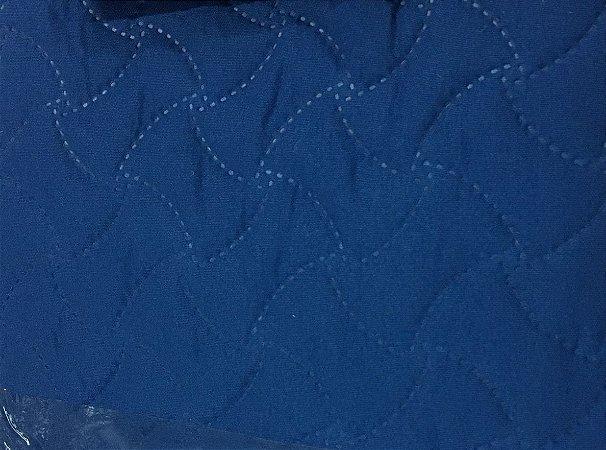 Porta Travesseiros Matelado Azul Royal Macio 50 x 70 cm