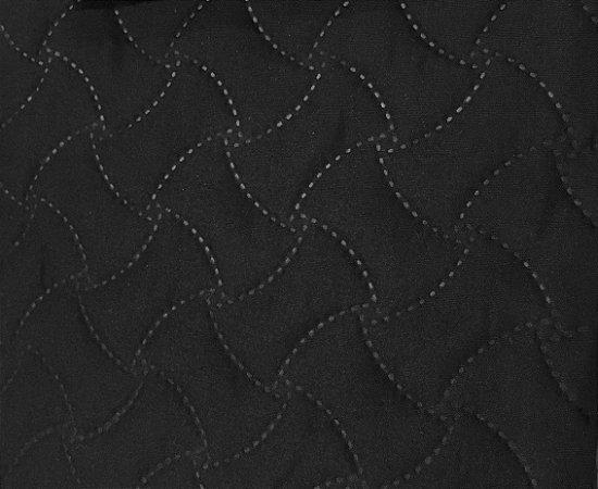 Porta Travesseiros Matelado Preto Macio 50 x 70 cm