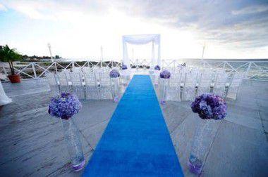 Passadeira Carpete 2m Largura Azul Turquesa Para Casamento, Festas 10 Metros de comprimento