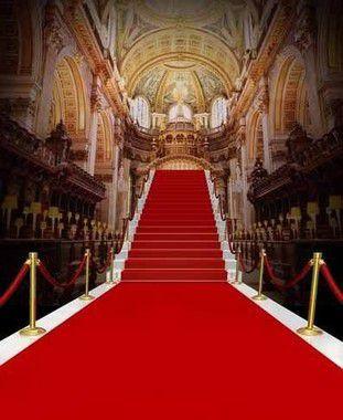 Passadeira Carpete 2m Largura Vermelho Para Casamento, Festas 10 Metros de comprimento