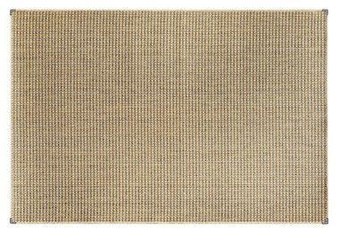 Tapete para Sala Sisal Antiderrapante com Proteção de Borda Sisle Marom e Bege 1,00x1,50