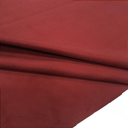 Tecido Veludo Vermelho Escuro Tijolo Liso