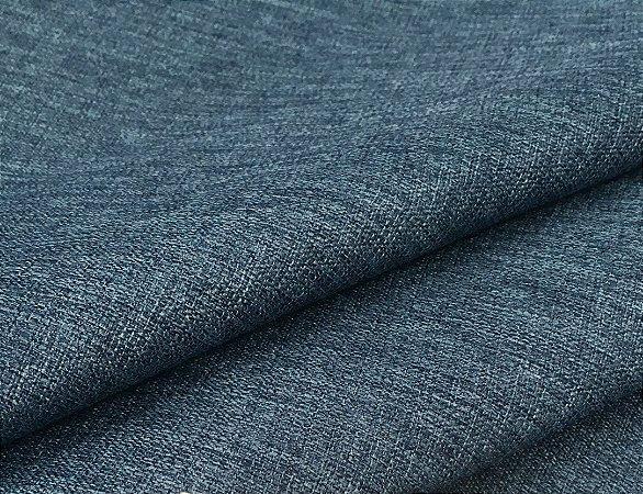 Tecido linho Rustico Clássico Linen Look Azul Jeans