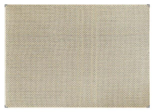 Tapete para Sala Sisal Antiderrapante com Proteção de Borda Sisle Bege e Marrom 1,50x2,00