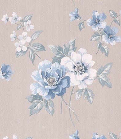 Papel de Parede Garden Flores Azuis e Brancas - SZ002757