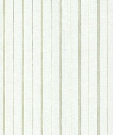 Papel de Parede Garden Listras Verde e Branco - SZ003052