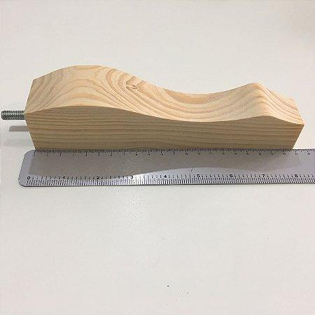 Pé para sofá de madeira com Parafuso - Cachimbo Beger Modelo Luiz XV Natural para Sofás, Estofados, Puffs - 21 cm