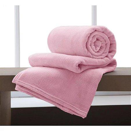 Manta Solteiro Rosa Flamingo Microfibra Corttex Home Design 2,00 x 1,50 mts