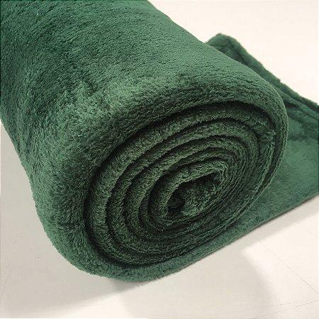Manta Casal Verde Microfibra Macia 1,80x2,20 Fatex