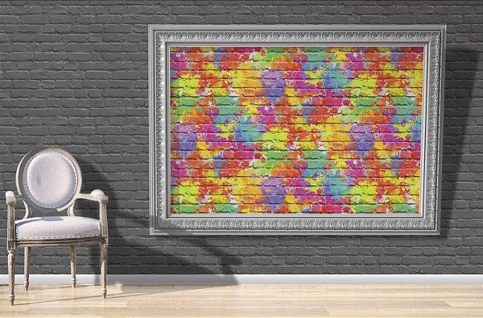 Papel de Parede Freestyle Estilo Muro de Tijolos Colorido - L33505