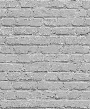 Papel de Parede Freestyle Estilo Muro de Tijolos Cinza Escuro - L22619