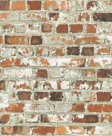 Papel de Parede Freestyle Estilo Muro de Tijolos Rustico - 102538