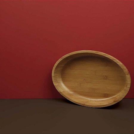 Gamela Oval Bamboo 33cm x 23cm
