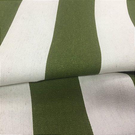Tecido Estilo Linho Impermeável Verde Folha Listrado - Ilhabela 04