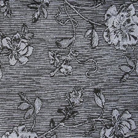 Tecido Jacquard Prata Rosas - Par 28