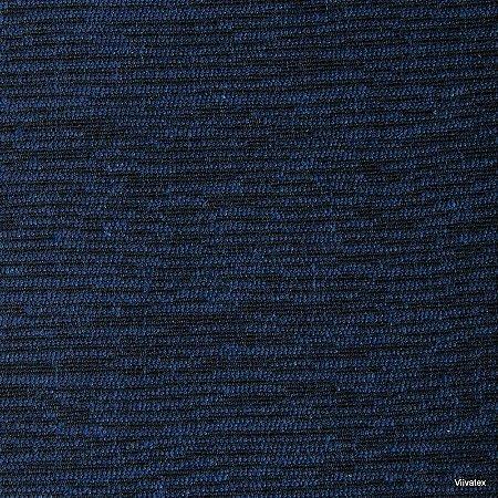 Tecido Jacquard Azul Liso - Par 43