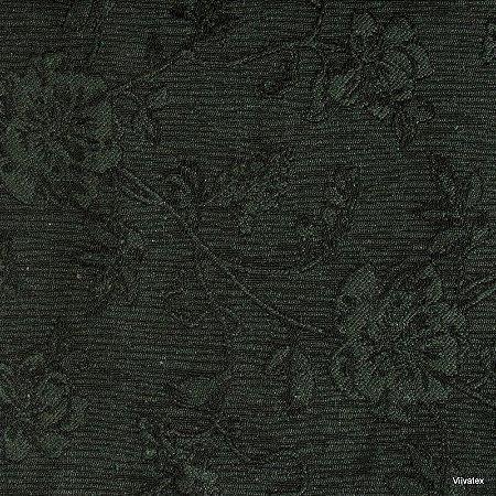 Tecido Jacquard Musgo Rosas - Par 52
