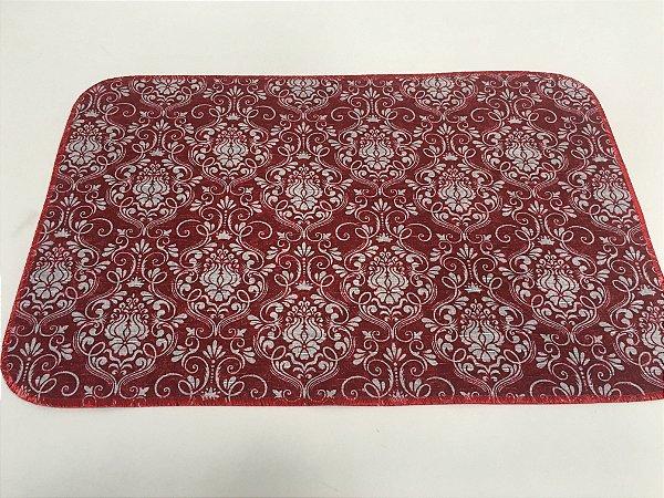Capacho de Tecido Pop Brasões Vermelho e Branco 40 x 60 cm