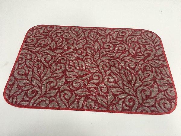 Capacho de Tecido Pop Ramos Vermelho  40 x 60 cm